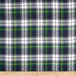 Yarn Dyed Flannel Plaid Blue/Green Fabric