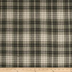 Yarn Dyed Flannel Plaid Olive/Beige Fabric
