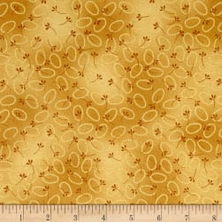 Chicks On The Run Oval Dots Marigold Fabric