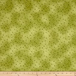 Chicks On The Run Oval Dots Green Fabric