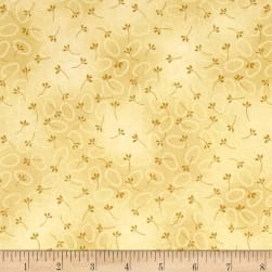 Chicks On The Run Oval Dots Tan Fabric