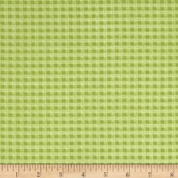 Chicks On The Run Gingham Sage Fabric