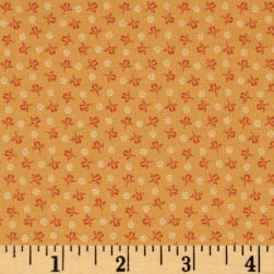 Modern Antiques Rose Buds Orange Fabric