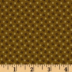 Modern Antiques Rose Buds Light Brown Fabric