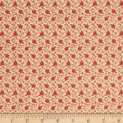Modern Antiques Flowers Coral Fabric