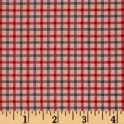 Modern Antiques Plaids Coral Fabric