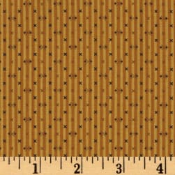 Modern Antiques Stripes Gold Fabric