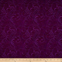 Here Comes The Sun Scrolls Squared Purple Fabric