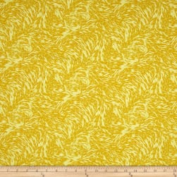 Here Comes The Sun Seed Scrolls Yellow Fabric