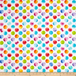 Kanvas All About Color Watercolor Dots White Fabric