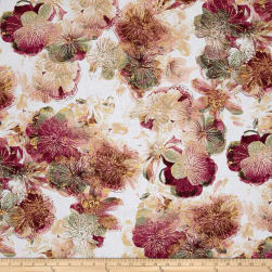 Kanvas Floral Impressions Photo Cream/Rose Fabric