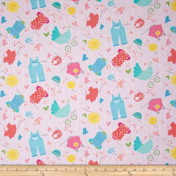My Little Sunshine Clothes Light Pink Fabric
