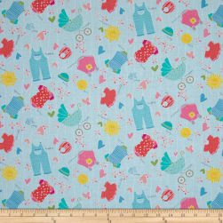 My Little Sunshine Clothes Light Turquoise Fabric