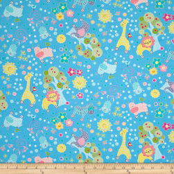 My Little Sunshine Animal Forest Blue Fabric