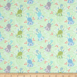 Contempo My Little Sunshine Monkeys Light Lime Fabric