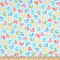 Contempo My Little Sunshine Duck Light Turquoise Fabric