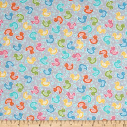Contempo My Little Sunshine Duck Light Grey Fabric