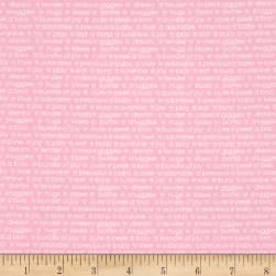 Contempo My Little Sunshine Words Light Pink Fabric