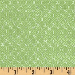 My Little Sunshine ABC Lime Fabric