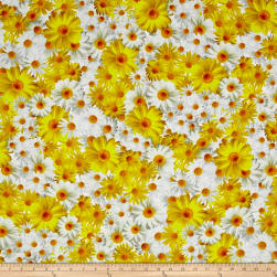 Kanvas Oops A Daisy Field of Daisies Yellow/White Fabric
