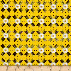 Kanvas Oops A Daisy Daisy Geo Yellow Fabric