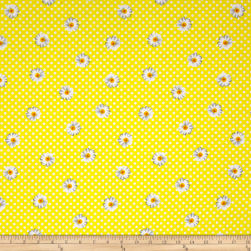 Kanvas Oops A Daisy Daisy Dot Yellow/White Fabric