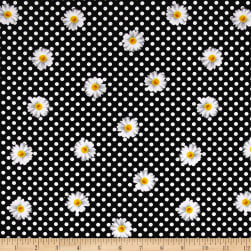 Kanvas Oops A Daisy Daisy Dot Black/White Fabric