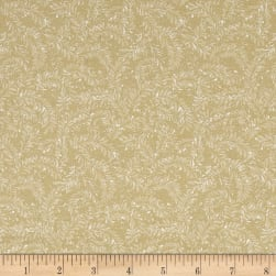 Sunshine Garden Leaf Dance Natural Fabric