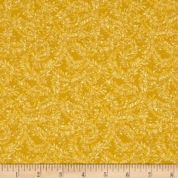 Benartex Sunshine Garden Leaf Dance Yellow Fabric