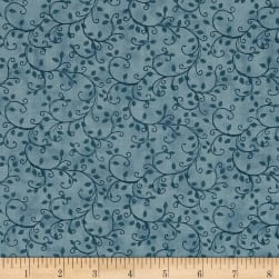 Benartex Sunshine Garden Vine Blue Fabric
