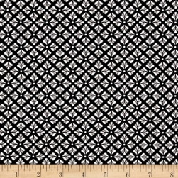 Folk Art Fantasy Diamonds Black/White Fabric