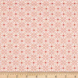 Folk Art Fantasy Diamonds Pink Fabric