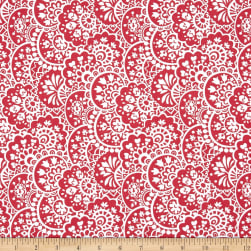 Bree Paisley Coral Fabric