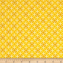 Bree Dot Circle Yellow Fabric