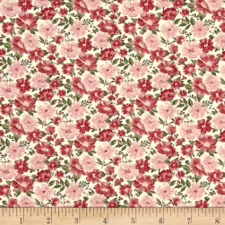 Abigail Grace Red/White Fabric