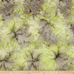 Bali Batiks Desert Valley Clouds Lime/Lavender Fabric