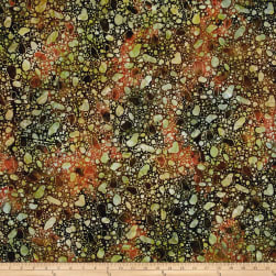 Bali Batiks Desert Valley Pebbles Coral/Brown Fabric