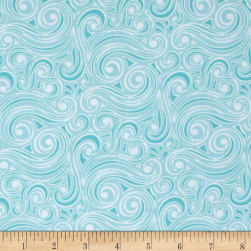 Contempo Winter Games Blizzard Aqua Fabric