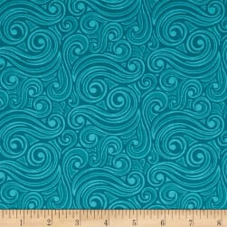 Contempo Winter Games Blizzard Teal Fabric