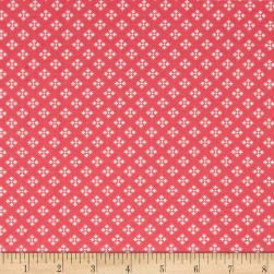 Contempo Winter Games Dots Red Fabric