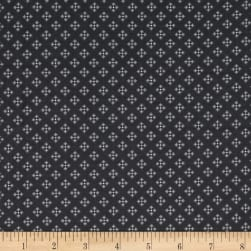 Contempo Winter Games Dots Grey Fabric