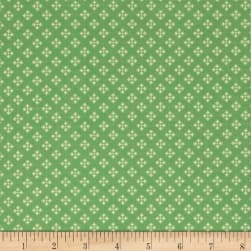 Contempo Winter Games Dots Green Fabric