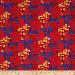 Contempo Modern Marks Modern Marks Red Fabric