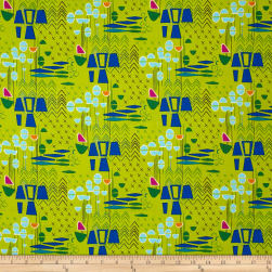 Contempo Modern Marks Modern Marks Lime Fabric