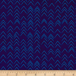 Contempo Modern Marks Herringbone Navy Fabric