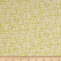 Contempo Modern Marks Boxes Cream/Lime Fabric