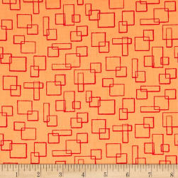 Contempo Modern Marks Boxes Light Orange Fabric