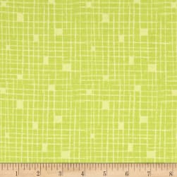 Contempo Modern Marks Crosshatch Light Lime Fabric