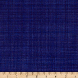 Contempo Modern Marks Color Weave Cobalt Blue Fabric