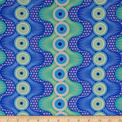 Contempo Dot Crazy Fun & Games Blue Fabric